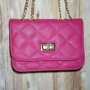 Crossbody Purse Clutch Quilted Vegan Leather